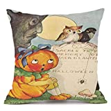 SEWORLD Happy Halloween Kissenbezüge Super Cashmere Sofa Kissenbezug Home Decor E