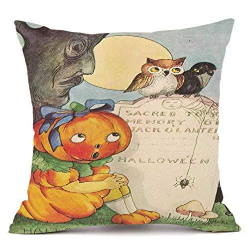 SEWORLD Happy Halloween Kissenbezüge Super Cashmere Sofa Kissenbezug Home Decor E