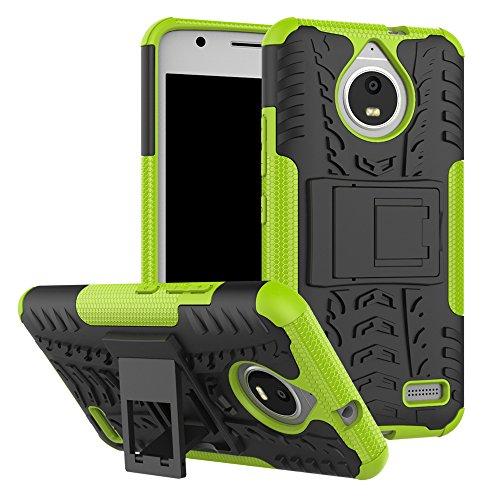 QiongniAN Cover per Motorola Moto E4,Staffa Antiurto Custodia per Motorola Moto E4 XT1760 XT1762 XT1763 XT1764 XT1767 XT1767PP XT1768 XT1769 / Moto E Gen 4 Custodia Case Cover Green