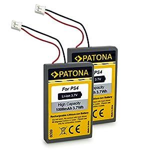PATONA 2X Akku ersetzt LIP1522 kompatibel mit Playstation 4 PS4 Controller Version 1