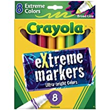 Crayola Broad Line Markers-Extreme Colors 8/Pkg