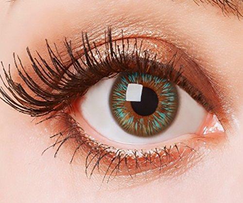 Farbige Kontaktlinsen Blau Ohne Stärke Weiche Natürliche Jahreslinsen Blaue Linsen Farblinsen 0 Dioptrien 3 Tones Blue Green Grün