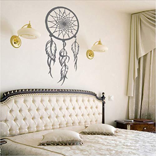 Mrhxly Vinilo AtrapasueñosSímbolo De La Etiqueta De La Pared Amuleto Etiqueta De La Pared Home Living Room Decor Extraíble Dreamcather Mural De Pared42 * 86 Cm