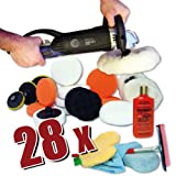 King Barney XL Set Kit Professionnel–Polisseuse/polisseuse 1600W 2–Affichage numérique +...