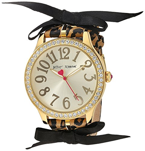 betsey-johnson-womens-quartz-metal-and-polyurethane-casual-watch-colorbrown-model-bj00131-78