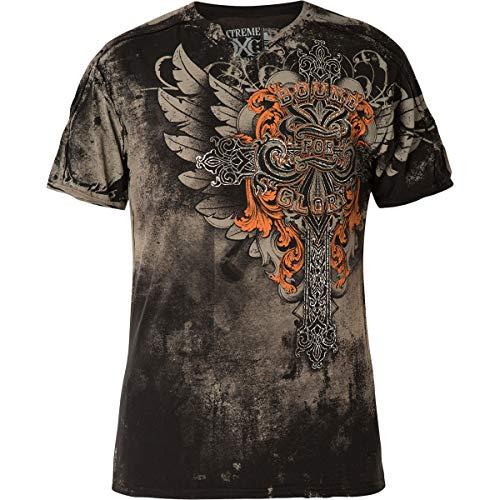 Xtreme Couture by Affliction T-Shirt Salvation SS Notch Schwarz, L - Affliction T-shirt Aus Baumwolle