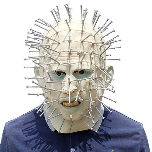 Halloween Latex Terror Ghost Chasing Maske, Halloween Kreative Kopfbedeckung Nägel