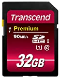 Transcend Premium 32 GB SDHC Class 10 UHS-I Memory Card - Frustration Free Packing