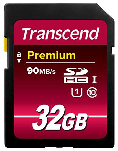 Transcend TS32GSDU1E - Tarjeta de memoria SecureDigital de 32 GB (300x, SDHC, clase 10), azul