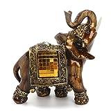 Glück Reichtum Elefant Statue Feng Shui Elefant Ornament Harz Material Perfekte Dekoration für Home Office 16 * 15.5