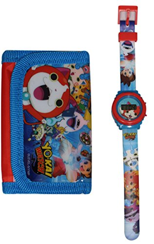 MONTRE ENFANT YO KAI WATCH NATHAN LCD PLUS PORTEFEUILLE