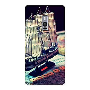 Travel Ship Map Multicolor Back Case Cover for OnePlus Two
