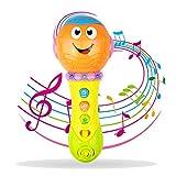 Kinder Mikrofon für 3-12 Monate Baby, Mikrofon Spielzeug für 1-2 Jahre altes Kleinkind Jungen Geschenk für 1 2 Jahre altes Mädchen Spielzeug für 9-24 Monate Mädchen Baby