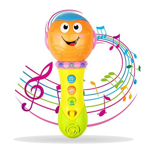 Kinder Mikrofon für 3-12 Monate Baby, Mikrofon Spielzeug für 1-2 Jahre altes Kleinkind Jungen Geschenk für 1 2 Jahre altes Mädchen Spielzeug für 9-24 Monate Mädchen Baby (So Schale Das Einfach Frisches Baby, Baby)