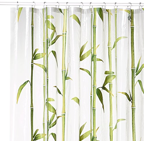 Kleine Wolke 5249625305 Bambú - Cortina de ducha (180 x 200 cm), dise