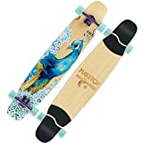 FTYUC Skateboard Tavola Lunga Doppio Rocker Tavola da Skate da Skateboard tavola Lunga da Strada Adulto Uomo e Donna Skateboard a Quattro Ruote Plexi giavanese
