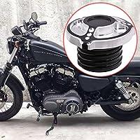 KaTur - Tapa para depósito de Combustible de Motocicleta CNC para Harley Sportster XL 883 1200 1996 en adelante.