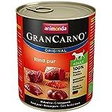 Animonda GranCarno Hundefutter Adult, Nassfutter für ausgewachsene Hunde von 1 – 6 Jahren, Rind pur, 6er Pack (6 x 800g)