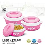 BMS GoodDay Belleza Insulated Hot Pot Casserole Gift Set, 3 Pcs ,With FREE 650ML Bowl