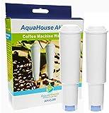2x Aquahouse AH-CJW Kompatibel für Jura Claris White Wasserfilterpatrone Kaffeemaschine