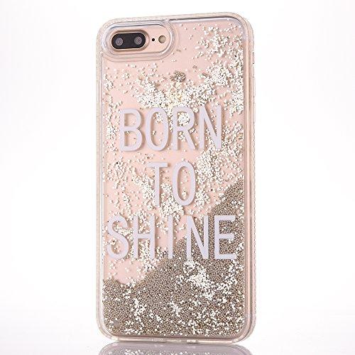 iPhone 6 Plus/6S Plus 5.5 Hülle, Voguecase Silikon Schutzhülle / Case / Cover / Hülle / TPU Gel Skin für Apple iPhone 6 Plus/6S Plus 5.5(Perlen Treibsand-girl boss-Gold) + Gratis Universal Eingabestif Perlen Treibsand-born to shine-Gold
