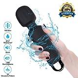 Lamantt Magic Wand Massagestab, Portable Elektrische Handmassgegeräte, 100% Wasserdicht Handheld Massagegerät Vibration mit 20 Vibrationsmodi und 8 Geschwindigkeiten USB Wiederaufladbar (schwarz)