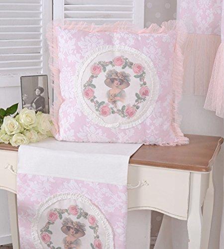 Vintage Kissen Belle Epoque Dekokissen Rosa Sofakissen Jugendstil Dame Palazzo Exclusiv