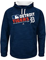 "Detroit Tigers Majestic MLB ""Team Choice"" On-Field Hooded SweatShirt Chemise"