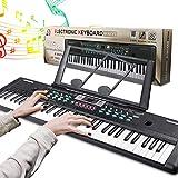 RenFox 61 Teclado Electr¡§?nico Teclado Port¡§¡étil, Electr¡§?nico Piano con Atril, Micr¡§?fono, Fuente de Alimentaci¡§?n, M¡§2sica Digital, Teclado de Piano para Ni?os/Adultos