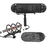 Voorruit Ophangingssysteem voor microfoon, BOYA BY-WS 1000 Blimp microfoon voorruitbevestiging en trillingsbescherming voor jachtgeweermicrofoons met een diameter van 20-22 mm voor DSLR-camcorders