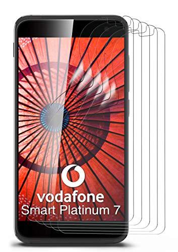 moex 5X Vodafone Smart Platinum 7 | Schutzfolie Klar Bildschirm Schutz [Crystal-Clear] Screen Protector Display Handy-Folie Dünn Bildschirmschutz-Folie für Vodafone Smart Platinum 7 Bildschirmfolie
