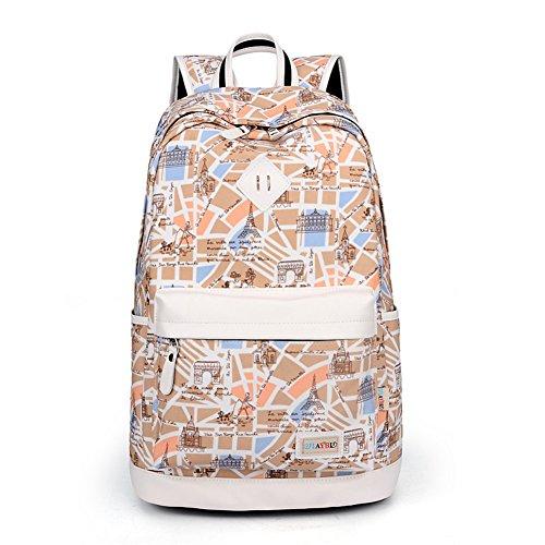 Borsa a tracolla leggera a grande capacit¨¤ ,personalit¨¤ canvas borsa studenti-A C
