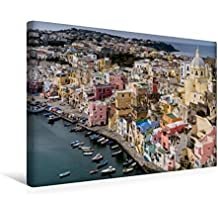 Premium Textil-Leinwand 45 cm x 30 cm quer, Corricella im Golf von Neapel | Wandbild, Bild auf Keilrahmen, Fertigbild auf echter Leinwand, Leinwanddruck: Pr  Procida (CALVENDO Orte)