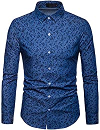 BUSIM Men's Long Sleeved Shirt Autumn Winter Luxury Casual Paisley National Style Printing Fashion Trend Slim...