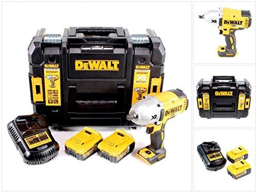 Preisvergleich Produktbild DeWalt DCF 899 P2 18 V Akku Schlagschrauber Brushless in TSTAK Box + 2 x DCB 184 5,0 Ah Akku + DCB 105 Ladegerät
