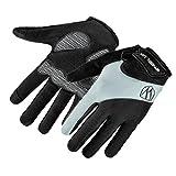HCFKJ RAD UP Full Bike Finger Bildschirm Radfahren Fahrrad Handschuhe Anti-Rutsch-Atmungsaktiv (L, GRAU)
