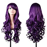 For Cosplay Wig Purple 100cm