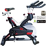 AsVIVA Indoor Cycle Speedbike S15 Bluetooth | Fitnessbike inkl. SPD Klickpedale,...