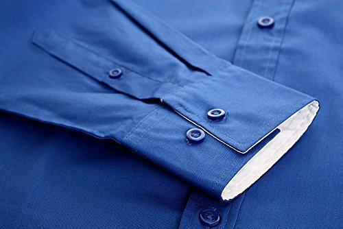 Früchtl Herren Hemd Slim Fit Bügelleicht Business Freizeit Hochzeit dark-blue-white