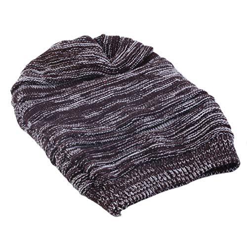 Noradtjcca Unisexfrauen-Männer strickten Baggy Beanie-Barett-Winter-Warmer Hip-Hop übergroßer Ski-Kappen-Hut schnelles freies Verschiffen Neuer heißer