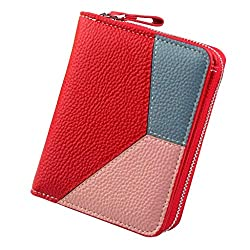 Bfmyxgs Schöne Geldbörse für Frauen Mädchen Brieftasche Vintage Mode Kleine Geldbörse Geldbeutel Reißverschluss Münzfach Handtasche Clutch Bag Handytasche Geldbörse