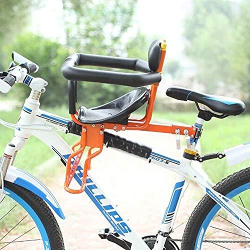 SZPDD Baby Fahrradsitz Kinder Fahrrad Kindersitz vorne mit Lenker und Kissen,Orange -
