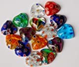 15 St. Schmuck Mosaik Herz 1cm Nr.2, ca. 6 g
