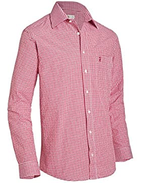 Almsach Herren Regular Fit Trachten Hemd LF107 rot