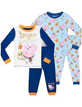 George Pig - Pijama para Niños - George Pig 2 Paquetes - Ajuste Ceñido