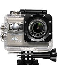ICONNTECHS IT 4K Ultra HD Wasserfeste Sport-Actionkamera, 170° Weitwinkellinse, Full HD 1080P Sony Sensor WiFi HDMI camcorder, Gratis Zubehör für Helm, Tauchen, Radfahren und Extremsport