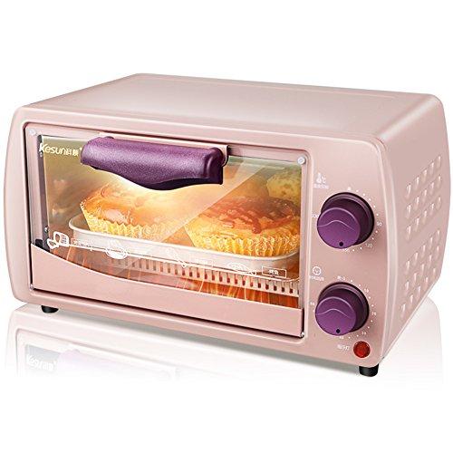 DULPLAY 9L Toaster, Backofen,Mini,Besten Konvektion,Digitale Essen,Grillen-Rack Beinhaltet,Arbeitsplatte Ofen Digital Poliertem Edelstahl Toast Home Küche-Rosa 34x22x21cm(13x9x8inch) (Toaster Ofen-arbeitsplatte)