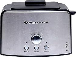 Bajaj Platini Delite 800W Pop Up Toaster (Silver)