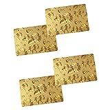 CLDGF 4-Pack-Tischsets, Rechteckig Speisematten, Waschbar, Langlebig, HitzebestäNdig, Nicht-üBerspringbarer KüChenstreifen PVC Tischsets 30Cm*45Cm (Gold)