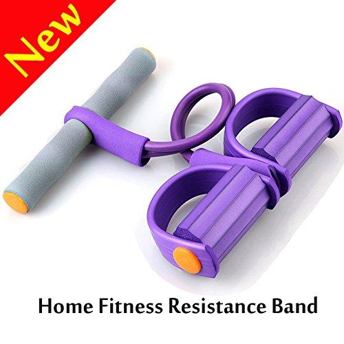 Cinta de resistencia con pedales; cordón elástico de W-Unique para fitness, adelgazar, tonificar abdomen, brazos, cintura o piernas, etc.